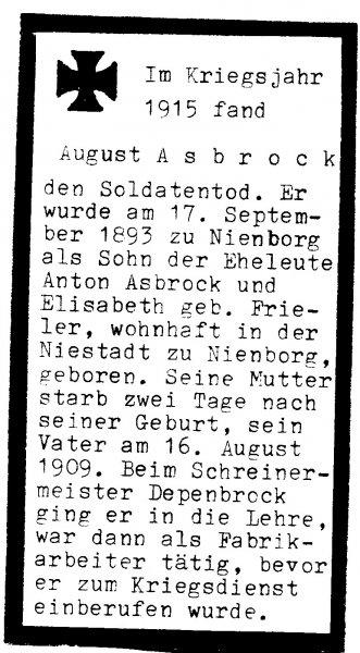 Asbrock, August