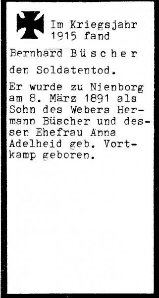 Büscher, Bernhard a