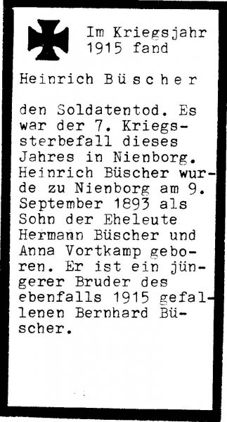 Büscher, Heinrich a