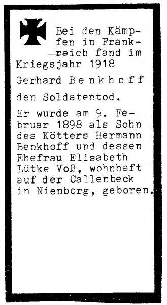 Benkhoff, Gerhard b