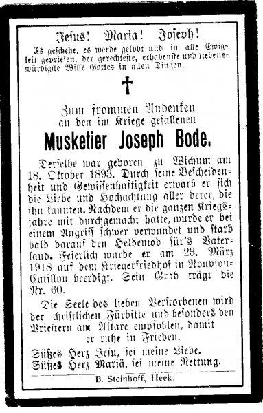 Bode, Joseph