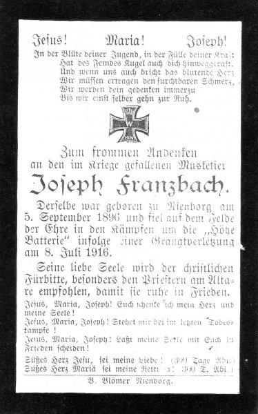 Franzbach, Joseph