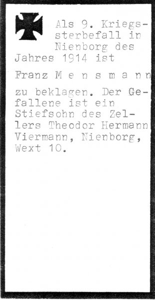 Mensmann, Franz
