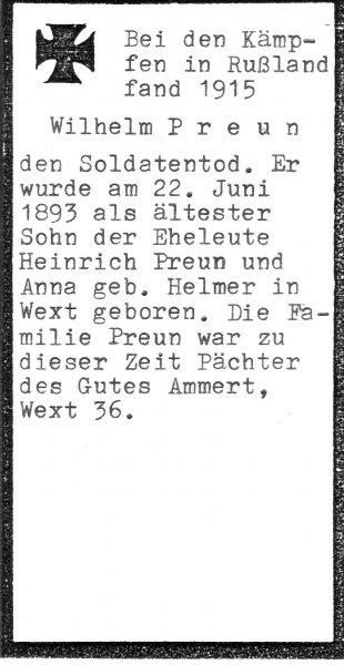 Preun, Wilhelm