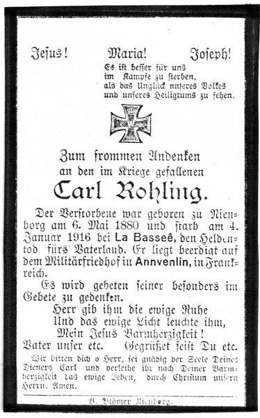 Rohling, Carl