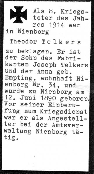 Telkers, Theodor