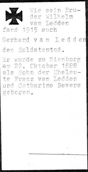 Van Ledden, Gerhard