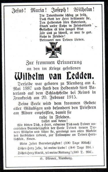 Van Ledden, Wilhelm a