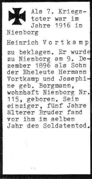 Vortkamp, Heinrich