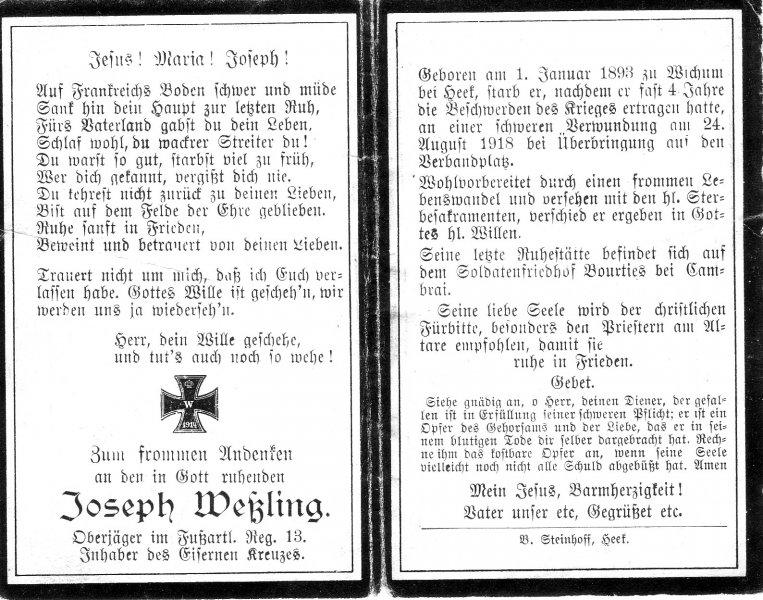Weßling, Joseph