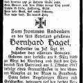 Haget, Bernhard a