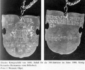 Königsplakette 1680