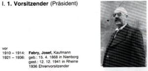 Präsident Josef Fabry