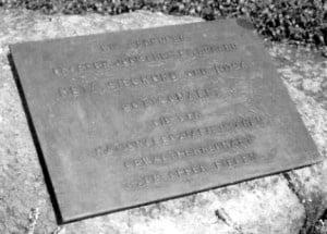 Bronzeplatte