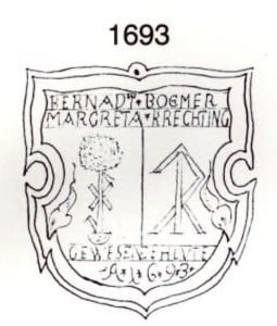 Plakette 1693