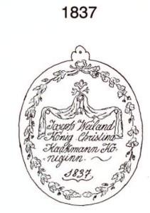 Plakette 1837