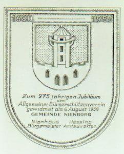Plakette-275 Jahre