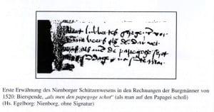 Rechnung aus 1520
