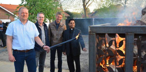 Osterfeuer 2019 – erstmalig als symbolisches Feuer auf dem Festplatz in der Niestadt